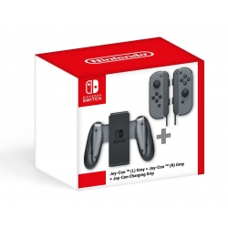 Joy-con Pair Grey + Joy-con Charging Grip (Nintendo Switch)